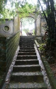 アムタイン寺からのアプローチ